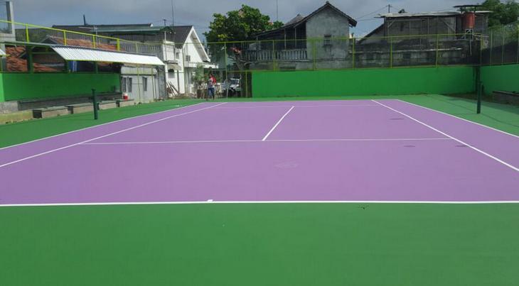jasa kontraktor pembuat lapangan olahraga basket futsal tenis badminton volley